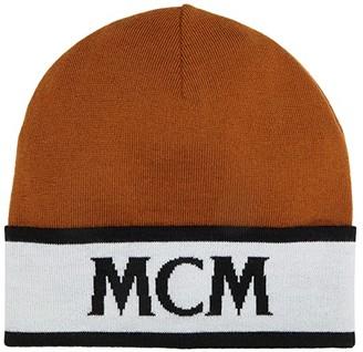 MCM Monogram Beanie (Cognac) Caps