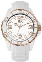 Haurex H2X Women's SW382DWR Reef Stones Luminous Water Resistant White Soft Rubber Watch