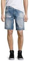 Diesel Distressed Jean Shorts, Blue
