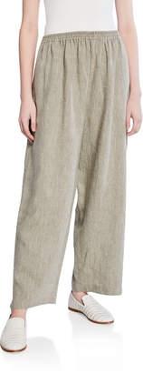 eskandar Linen Wide-Leg Japanese Trouser