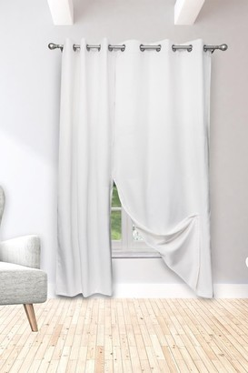 Duck River Textile Isaac Solid Magnetic Magnetic Blackout Curtain Set - White