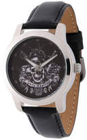 Disney Pirates of the Carribean Mens Black Strap Watch-Wds000377