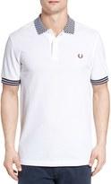 Fred Perry Men's Checkerboard Collar Polo Shirt