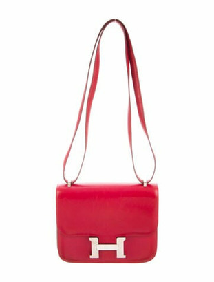 Hermes Vintage Swift Mini Constance 18 Rouge