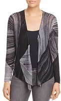 Nic+Zoe Line Print Four-Way Cardigan