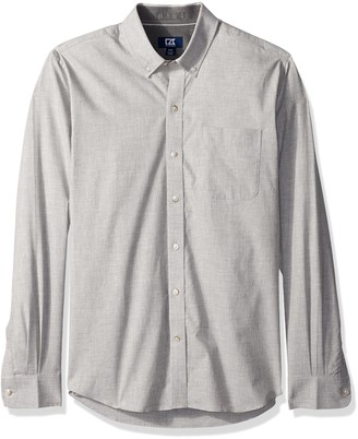 Cutter & Buck Men's Big and Tall Long Sleeve Non-Iron Button Down Collared Shirt