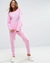 Asos Holidays Santa Baby Long Sleeve Tee & Legging Pajama Set