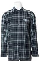 Givenchy Mens 100% Cotton Charcoal Stripped Button Down.