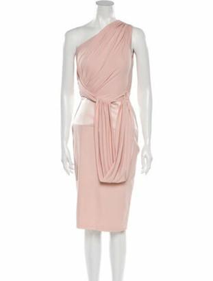 Giambattista Valli Silk Midi Length Dress Pink