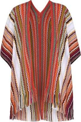 Missoni Fringe-trimmed Crochet-knit Wool-blend Wrap
