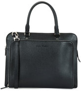 Salvatore Ferragamo Revival Textured Leather Briefcase, Black