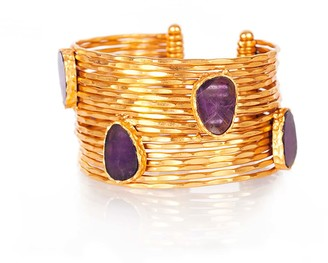 Christina Greene Wire Stackable Cuff in Amethyst