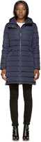 Moncler Navy Down Flammette Coat