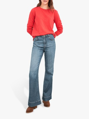 White Stuff Flare Jeans, Mid Denim