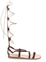 Ancient Greek Sandals Sofia High gladiator lace-up leather sandals