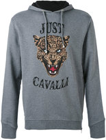 Just Cavalli tiger face print hoodie - men - Cotton - S