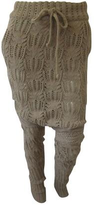 Vivienne Westwood Camel Wool Trousers