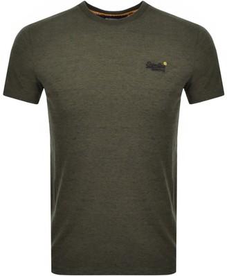 Superdry Vintage Short Sleeved T Shirt Olive