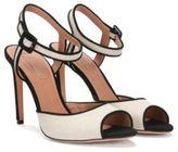 Hugo Boss Canvas Sandal Italian Suede Linen Heeled Sandals 9 Natural