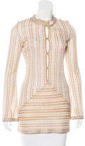 M Missoni Striped Metallic Tunic