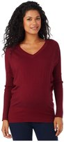 Rosie Pope Maternity V-Neck Sweater - Mulberry-X-Small