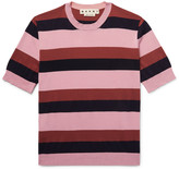 Marni - Striped Knitted Cotton T-shirt