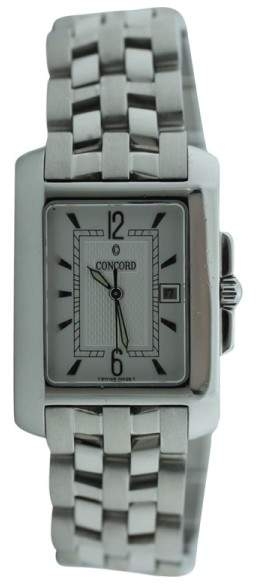 Concord Sportivo Stainless Steel Silver Dial on Bracelet Unisex Watch