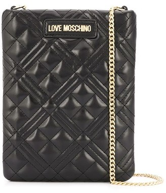 Love Moschino Rectangule Quilted Cross-Body Bag