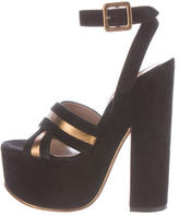 Rochas Suede Platform Sandals