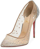 Christian Louboutin Follies Strass Mixed Red Sole Pump