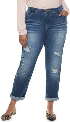 UNIONBAY Juniors' Plus Size Marni Ripped Skinny Jeans