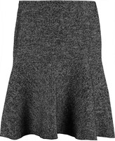 See by Chloe Houndstooth cotton and wool-blend skirt