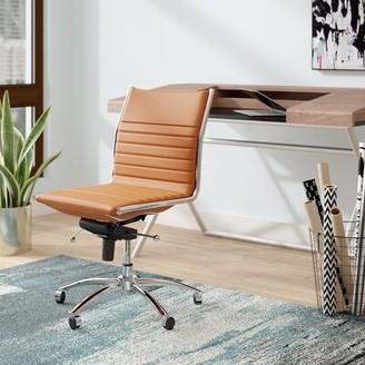 Orren Ellis Ufomba Conference Chair Arms: No, Color: Cognac