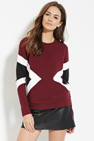 Forever 21 Contemporary Geo-Colorblocked Sweatshirt