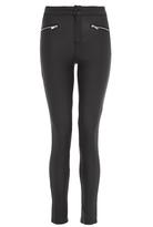 Quiz Black Coated High Waist Skinny Jeans