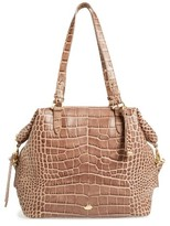 Brahmin Delaney Southcoast Croc-Embossed Leather Tote - Black