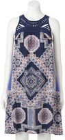 MSK Women's Crochet Medallion Shift Dress