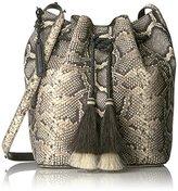 Loeffler Randall Drawstring Hobo (Python Embossed Leather/Horse Hair Tassels)