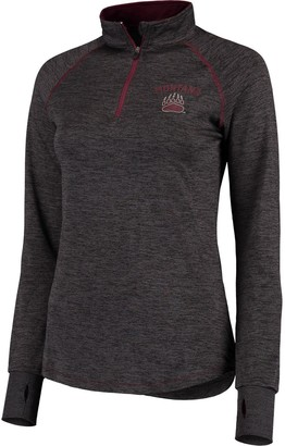 Colosseum Women's Black Montana Grizzlies Bikram Quarter-Zip Jacket
