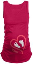 Happy Cherry Baby Heart Feet Maternity T-Shirt Summer Tank For Pregancy - M