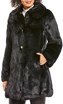 Kate Spade Faux-Fur Club Collar Single Breasted Coat
