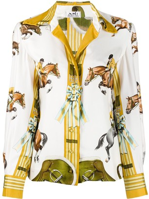 Pre-Owned Horse Print Shirt