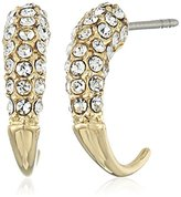 Rebecca Minkoff Small Pave Gold Hook Earrings