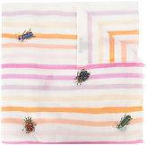 Janavi butterfly and beetle embroidered scarf - women - Cashmere/Merino - One Size