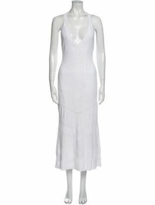 Alexis Plunge Neckline Long Dress w/ Tags