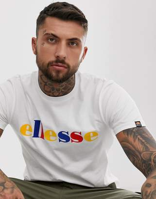 Ellesse Reno t-shirt with multi logo in white