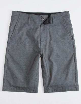 Volcom Frickin Static Dark Gray Boys Hybrid Shorts