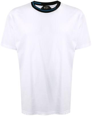 No.21 half stripe collar T-shirt