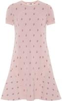 Valentino Floral jacquard-knit minidress
