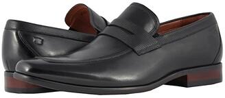 Florsheim Postino Moc Toe Penny Loafer (Black Smooth/Perf) Men's Slip-on Dress Shoes
